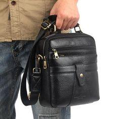 085e5826e9  EBay  High Quality Men S Cowhide Genuine Leather Messenger Shoulder Cross  Body Bag Casual Business