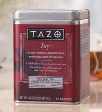 Tazo Joy Black, Green & Oolong Teas (Full-Leaf Tea in Tin) 15 Sachets:  A celebratory blend of select rare teas.