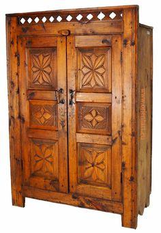 antik Massive Naturholz orient Wohnzimmerschrank von KabulGallery