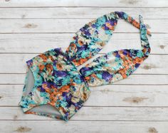 Swimsuit High Waisted Vintage Style One Piece Retro Pin-up