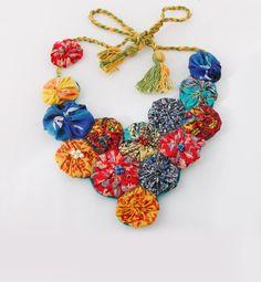 Multicolored fabric neck piece <3