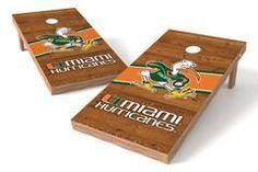 Miami Hurricanes Single Cornhole Board - Logo