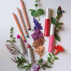 Aveda's 2015 spring/summer Rare Bloom makeup collection.   LOVE the fire poppy lip glaze!