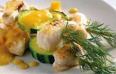 recetasricasysalud: Receta Brocheta de Pescado Salsa de Fruta