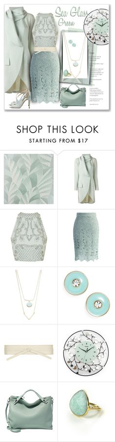 """""""Sea Glass Green"""" by sheryl-lee ❤ liked on Polyvore featuring Osborne & Little, John Galliano, Topshop, Chicwish, Robert Rose, Kate Spade, Dorothy Perkins, Skagen, Feather & Stone and Rupert Sanderson"""