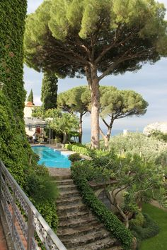 Cote d'Azur Provence - France - garden with pool-Gorgeous The Places Youll Go, Places To Visit, Beautiful Gardens, Places To Travel, Outdoor Gardens, Outdoor Pool, Swimming Pools, Beautiful Places, Beautiful Beautiful