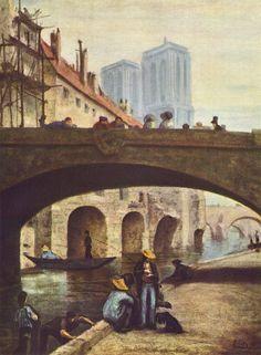 Il Pittore davanti a Notre-Dame, 1834, olio su tela, Musée Calvet
