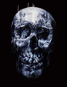 """http://illusion.scene360.com/art/36555/more-optical-illusion-skulls/"" - classic contrast & maybe the skull of a saint ~;^)>"