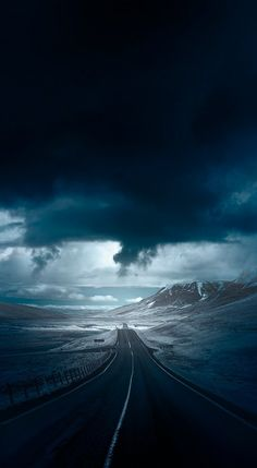Blue road by Andy Lee