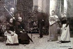 Thérèse's sister Céline (left) with the Guérin family, the family of their mother