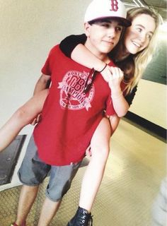 Sabrina Carpenter got a piggyback ride from Bradley Steven Perry on August 10, 2014 They are so cute! Description from pinterest.com. I searched for this on bing.com/images