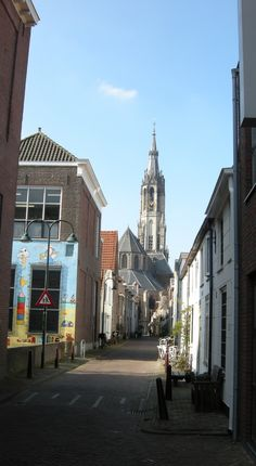 Streetview Trompetstraat, Delft, along my studio to the 'Nieuwe Kerk'.
