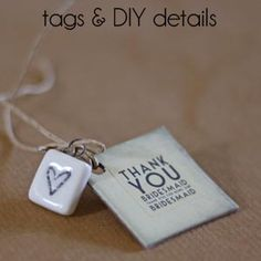 Tags & DIY Details   Range of luggage tags, tags for bridesmaids gifts, vintage keys and scrabble hearts www.theweddingofmydreams.co.uk #wedding