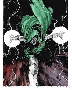 Doctor Doom by Dike Ruan Comic Book Artists, Comic Artist, Comic Books Art, Dr Doom Marvel, Marvel Art, Marvel Comic Character, Marvel Characters, Fantastic Four Marvel, Graphic Novel Art