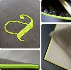 neon embroidery / broderie fluo