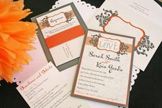Found my wedding invites here on Pinterest. :) The information is all different, but our names are the same. :) These were a custom design that Invitations Ink came up with and made for Kris and I. :) Love them!! <3 Wedding Invitations - Invitations Ink - Invitations Ink
