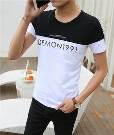 Summer short sleeve bottoming shirt slim T-shirt for men Polo Shirt Outfits, Mens Polo T Shirts, Boys T Shirts, T Shirts For Women, Formal Tops, Men Formal, Cheap Clothes From China, Polo Shirt Design, Tattoo T Shirts