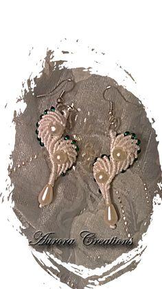 orecchini macramè perle
