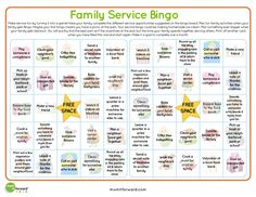 Doing service together as a family is a great way to connect and have fun. Use this Service Bingo card and make serving others a game. Service Bingo Card | MomItForward.com Download the Service Bingo Card  To Download other Mom It Forward …