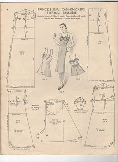 Free vintage lingerie patterns (more in the link). This does look a little difficult for someone with little sewing experience, but the result seems well worth it!