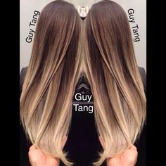 4 month old color. Root retouch using Kenra Professional #balayage ...