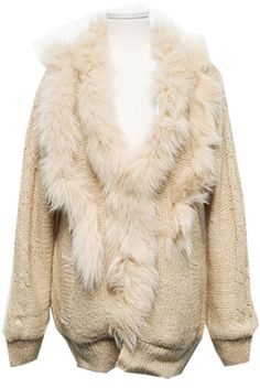 Fur and Knit Jacket