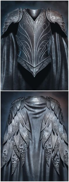 leather armor cloak gown feathers elf elven knight fighter paladin royalty king prince clothing fashion cosplay costume LARP LRP equipment gear magic item | Create your own roleplaying game material w/ RPG Bard: www.rpgbard.com | Writing inspiration for Dungeons and Dragons DND D&D Pathfinder PFRPG Warhammer 40k Star Wars Shadowrun Call of Cthulhu Lord of the Rings LoTR + d20 fantasy science fiction scifi horror design | Not Trusty Sword art: click artwork for source