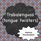 This Power Point features 15 different tongue twisters in Spanish that each target a different sound or letter combination.  This is great for stud...