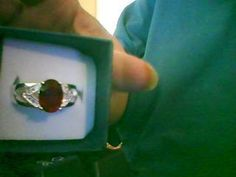 LOOK!!!! A STUNNING STAMPED 925 STERLING SILVER GARNET AND WHITE SAPPHIRE RING SIZE 8