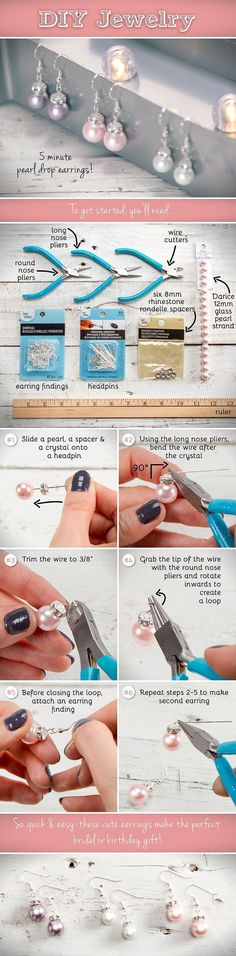 DIY 5 Minute Earrings Pictures, Photos, and Images for Facebook, Tumblr, Pinterest, and Twitter