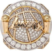 2010 Los Angeles Lakers NBA Championship Ring with High-Tech Original Display Case.