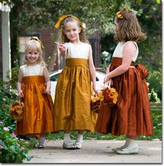 Flower girl dresses for fall!