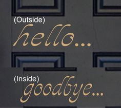 Hello Door Decal -Hello Vinyl Lettering - Front Door Decal - on Etsy, $6.00