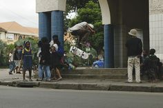 180 Backside kickflip - LofoSkateboarding in Antananarivo, Madagascar. 2013  Want to give us a hand? We are not looking for money but any skateboarding material (mainly deck).