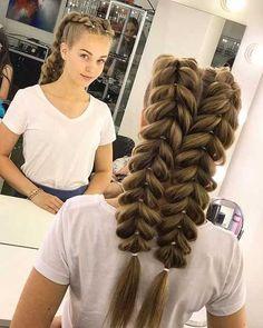 Braided hairstyles you should see - love hair- Geflochtene Frisuren, die Sie sehen sollten – Haare lieben Braided Hairstyles You Should See – – Braided Hairstyles You Should See French Fishtail Bridal Hairstyle – - Braided Hairstyles Tutorials, Box Braids Hairstyles, Bride Hairstyles, Hair Tutorials, Teenage Hairstyles, Hairstyle Ideas, Hairstyles 2018, School Hairstyles, French Hairstyles