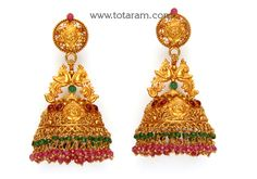 Gold Temple Jewellery, Gold Rings Jewelry, Jewelry Design Earrings, Gold Earrings Designs, Gold Bangles, Gold Jhumka Earrings, Blouse, India, Blouses