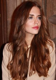 Brunette-Hair-Color-Trend-2016; A precious gemstone, Topaz can come in a variety of colors. From golden brown to reddish-copper, this color is known for it's multi-dimensional reflects. Thought to promote self-realization and control, Topaz may be a great choice for clients looking to bring about these qualities in 2016. To re-create this hair color trend, select a mocha brown base and delicately weave copper fine accents through the mids and ends.