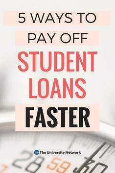 Here are 5 ways to pay off your student loans as soon as possible, so you can be debt-free sooner than later. Apply For Student Loans, Student Loan Payment, Federal Student Loans, Paying Off Student Loans, Loan Money, Student Loan Forgiveness, Home Improvement Loans, Savings Plan, Debt Free