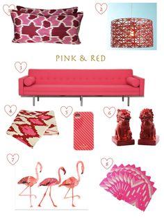 Confetti and Stripes: pink & red decor ideas