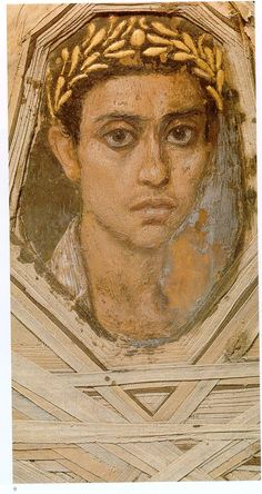 Beautiful Roman mummy decoration. It's been said that likenesses like this weren't created again until centuries later