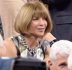 Anna Wintour - THE all round Style Queen and #Vogue editor wearing our brand new Vintage Crystal necklace. Love how she has created her own look (obviously!) and doubled up with two of them. Gwyneth Paltrow also photographed in it earlier this week. #annawintour #stylequeen #celebritystyle #stelladot  www.stelladot.com/angiehurlburt