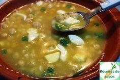 Receitas de sopas: Sopa de abóbora com grão e poejos ♥♥♥