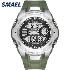 3380c9fba7c Digital Wristwatches Military SMAEL Cool S Shock Relojes Hombre Casual LED  Clock Watch Men Big Dial1340 Sport Watches Waterproof