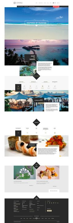 Constance Hotels & Resorts. Beautiful web layout.