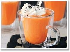 Orange Hot Chocolate would be good for Halloween, Thanksgiving, Autumn in general.  You could use red food coloring for Christmas too.  :)  Peeps would be cute floating in it.
