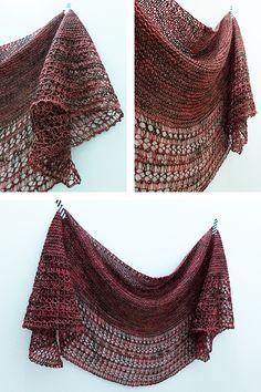 Ravelry: Rosewater shawl with Lanitium ex Machina Glitter Sock - knitting pattern by Janina Kallio.