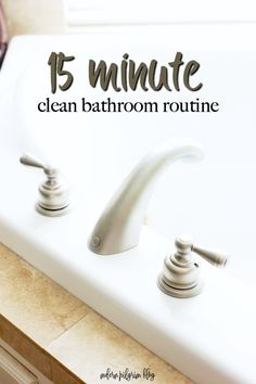 Spring into clean with this easy 15 minute clean bathroom routine! #ad #springintoclean