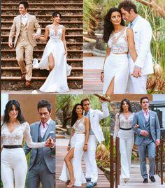 Los looks de Aislinn Derbez en su boda con Ochmann