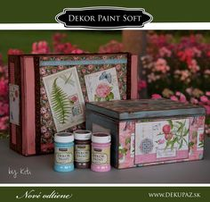 Dekor paint soft Herbalism, Decoupage, Decorative Boxes, Painting, Home Decor, Herbal Medicine, Decoration Home, Room Decor, Painting Art
