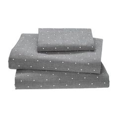 Dapper Kids Sheets (Grey Polka Dots) | The Land of Nod